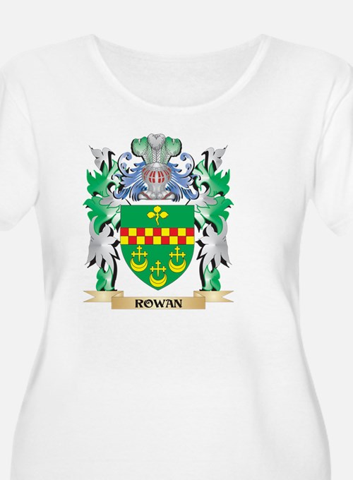 Rowan Coat of Arms - Family Cres Plus Size T-Shirt