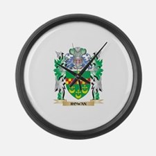 Rowan Coat of Arms - Family Crest Large Wall Clock