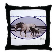 2002 Foals Throw Pillow