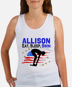 PERSONALIZE SWIMMER Women's Tank Top