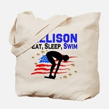 PERSONALIZE SWIMMER Tote Bag