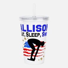 PERSONALIZE SWIMMER Acrylic Double-wall Tumbler