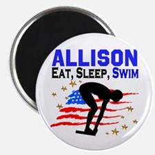 PERSONALIZE SWIMMER Magnet