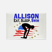 PERSONALIZE SWIMMER Rectangle Magnet (10 pack)