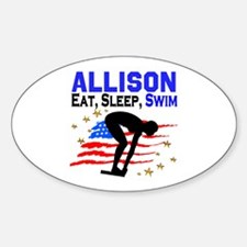 PERSONALIZE SWIMMER Decal