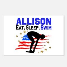 PERSONALIZE SWIMMER Postcards (Package of 8)