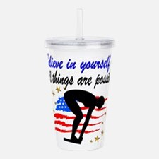 BEST SWIMMER Acrylic Double-wall Tumbler