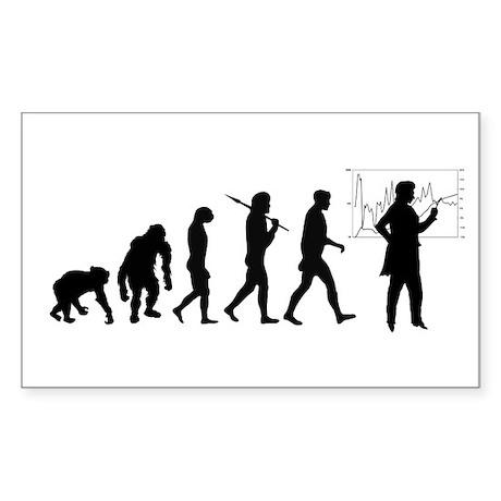Development of mankind Rectangle Sticker