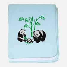 Panda Bear Family baby blanket