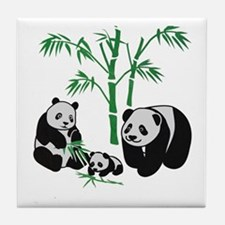 Panda Bear Family Tile Coaster