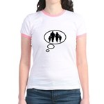 Thinking of Family Jr. Ringer T-Shirt