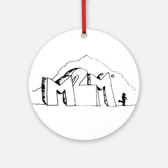 M2M Logo Round Ornament
