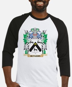 Rutgers Coat of Arms - Family Cres Baseball Jersey