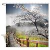 Japanese Cherry Landscape Shower Curtain