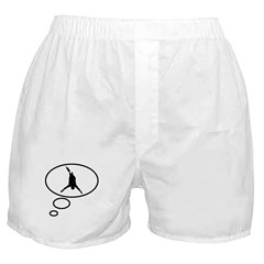 Thinking of Bungee Jumping Boxer Shorts