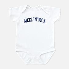 MCCLINTOCK design (blue) Infant Bodysuit