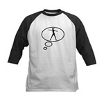 Thinking of Ballerina  Kids Baseball Jersey