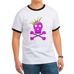 Pink Pirate Royalty Ringer T