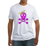 Pink Pirate Royalty Fitted T-Shirt