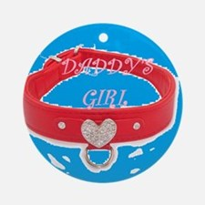 Daddy's Girl (torquoise) Round Ornament