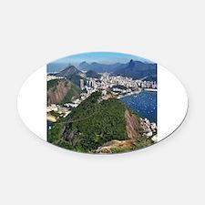 Cool Rio de janeiro Oval Car Magnet