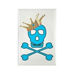 Blue Pirate Royalty Rectangle Magnet (100 pack)