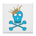 Blue Pirate Royalty Tile Coaster