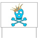 Blue Pirate Royalty Yard Sign