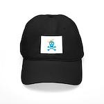 Blue Pirate Royalty Black Cap