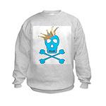 Blue Pirate Royalty Kids Sweatshirt