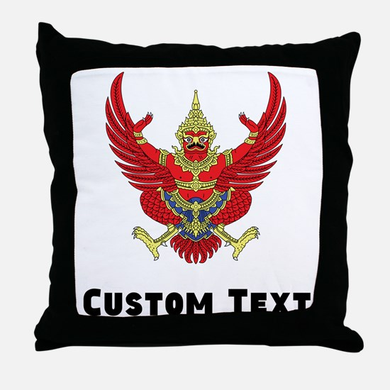Thailand Coat Of Arms Throw Pillow