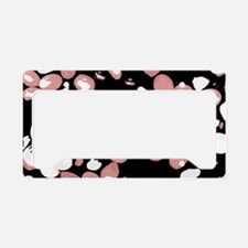 Pink Beans License Plate Holder