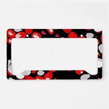 Red Beans License Plate Holder
