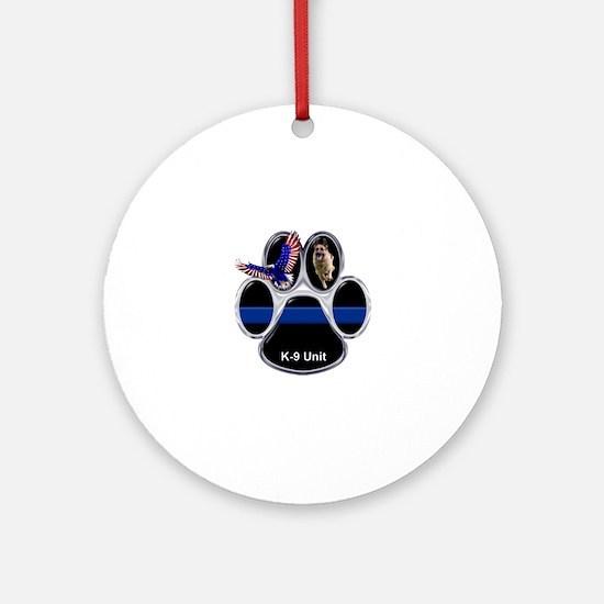 K-9 Unit Round Ornament