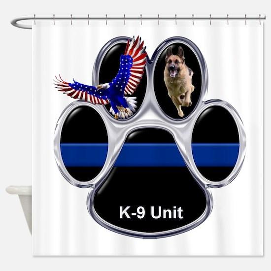 K-9 Unit Shower Curtain