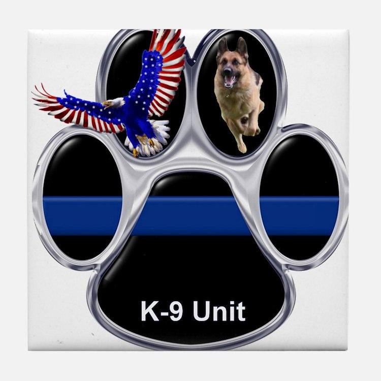 K-9 Unit Tile Coaster