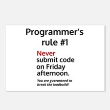 Programmer's rule #1 Postcards (Package of 8)