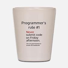 Programmer's rule #1 Shot Glass