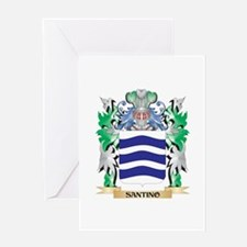 Santino Coat of Arms - Family Crest Greeting Cards