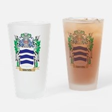 Santos Coat of Arms - Family Crest Drinking Glass