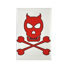 Pirate Devil Rectangle Magnet (10 pack)