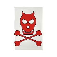 Pirate Devil Rectangle Magnet (10 pack)