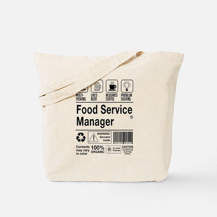 Cute Food service Tote Bag