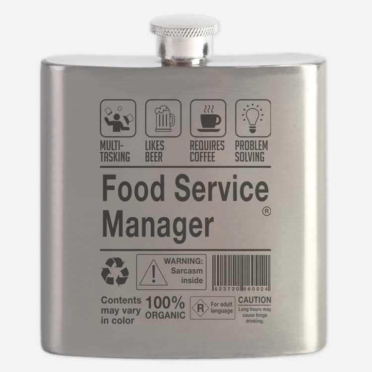 Cute Food service Flask