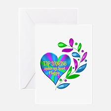 Tap Dancing Happy Heart Greeting Card