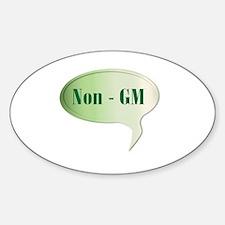 Unique Gm food Sticker (Oval)