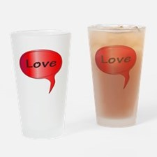Speech bubble Drinking Glass