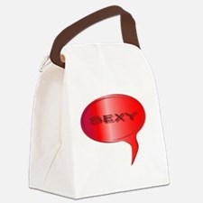 Funny Speech bubble Canvas Lunch Bag