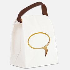 Unique Speech bubble Canvas Lunch Bag