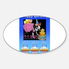 HAPPY BIRTHDAY BOSTON LOOK Oval Decal